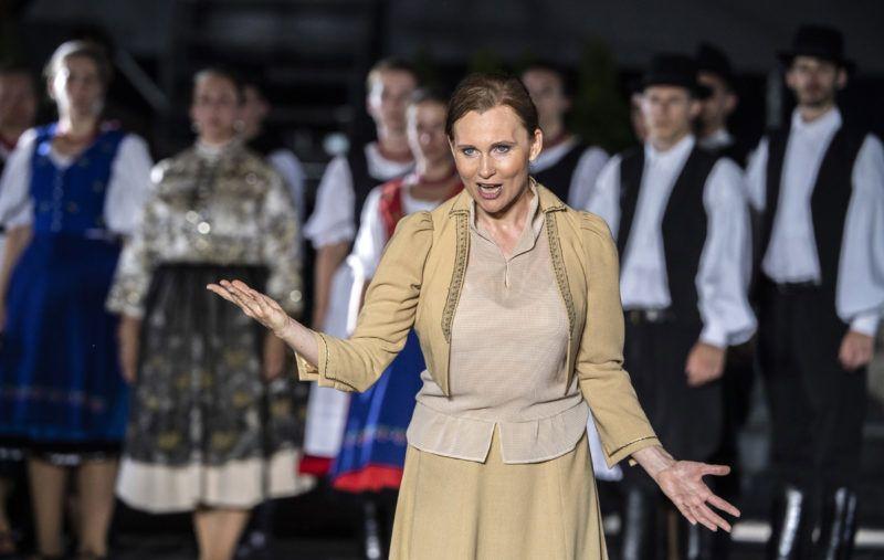Budapest, 2018. június 22.Ruttkay Laura a Trianon című rockopera próbáján a Hősök terén 2018. június 21-én. A darabot Koltay Gábor rendezésében június 22-én mutatják be.MTI Fotó: Szigetváry Zsolt