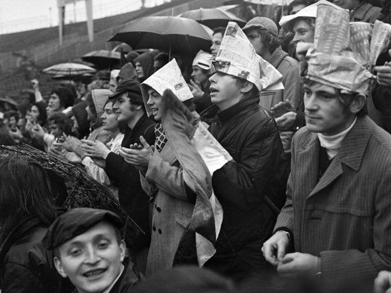 szurkolók népstadion 1973Fotó: Urbán Tamás / Fortepan
