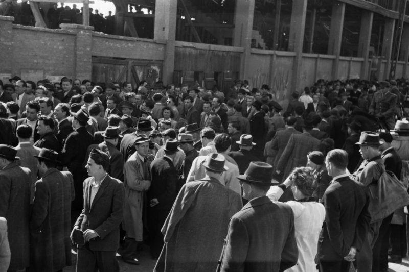 Üllői út 129. FTC pálya. 1949Fotó: Kovács Márton Ernő / Fortepan