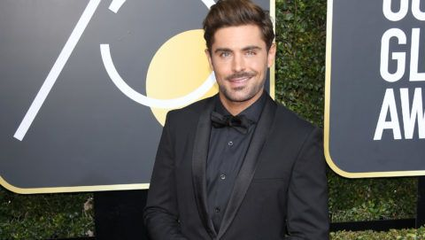 BEVERLY HILLS, CA - JANUARY 07: Actor Zac Efron attends The 75th Annual Golden Globe Awards at The Beverly Hilton Hotel on January 7, 2018 in Beverly Hills, California.  (Photo by Venturelli/WireImage)
