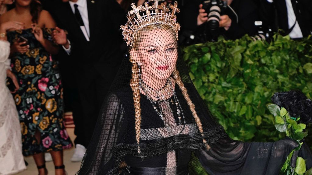 NEW YORK, NY - MAY 07:  Madonna at Metropolitan Museum of Art on May 7, 2018 in New York City.  (Photo by Jackson Lee/Getty Images)