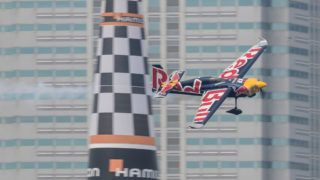 CHIBA, JAPAN - MAY 26: Martin Sonka of Czech Republic performs during qualifying day at the third round of the Red Bull Air Race World Championship on May 26, 2018 in Chiba, Japan.  (Photo by Samo Vidic/Getty Images)