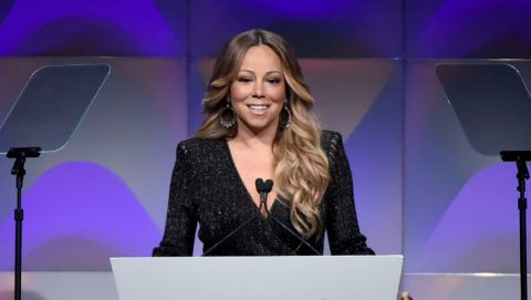 NEW YORK, NY - JUNE 14:  Mariah Carey speaks onstage during the Songwriters Hall of Fame 49th Annual Induction and Awards Dinner at New York Marriott Marquis Hotel on June 14, 2018 in New York City.  (Photo by Theo Wargo/Getty Images for Songwriters Hall Of Fame )