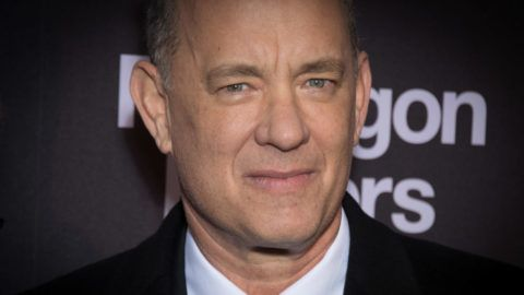 PARIS, FRANCE - JANUARY 13:  Tom Hanks attends 'Pentagon Papers' (The Post) Premiere at Cinema UGC Normandie on January 13, 2018 in Paris, France.  (Photo by Stephane Cardinale - Corbis/Corbis via Getty Images)