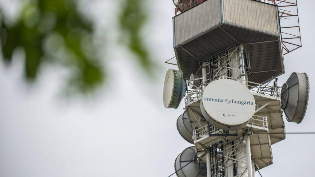 Az Antenna Hungária egyik adóállomásának részlete. MTI Fotó: Rosta Tibor