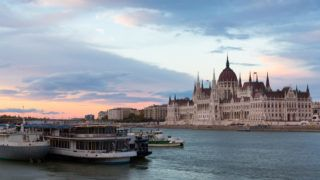 Image of building of Parliament in Budapest of Hungary outdoor.