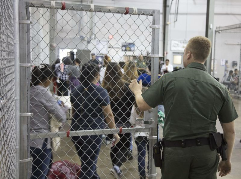 """This US Customs and Border Protection photo dated June 17, 2018 and obtained June 18, 2018 shows intake of illegal border crossers by US Border Patrol agents at the Central Processing Center in McAllen, Texas. / AFP PHOTO / US Customs and Border Protection / Handout / RESTRICTED TO EDITORIAL USE - MANDATORY CREDIT """"AFP PHOTO / US CUSTOMS AND BORDER PROTECTION/HANDOUT"""" - NO MARKETING NO ADVERTISING CAMPAIGNS - DISTRIBUTED AS A SERVICE TO CLIENTS   / """"The erroneous mentions appearing in the metadata of this photo by the US Customs and Border Protection has been modified in AFP systems in the following manner: [photo dated June 17, 2018 and obtained June 18, 2018] and not as previously stated. Please immediately remove the erroneous mentions from all your online services and delete them from your servers. If you have been authorized by AFP to distribute them to third parties, please ensure that the same actions are carried out by them. Failure to promptly comply with these instructions will entail liability on your part for any continued or post notification usage. Therefore we thank you very much for all your attention and prompt action. We are sorry for the inconvenience this notification may cause and remain at your disposal for any further information you may require."""""""
