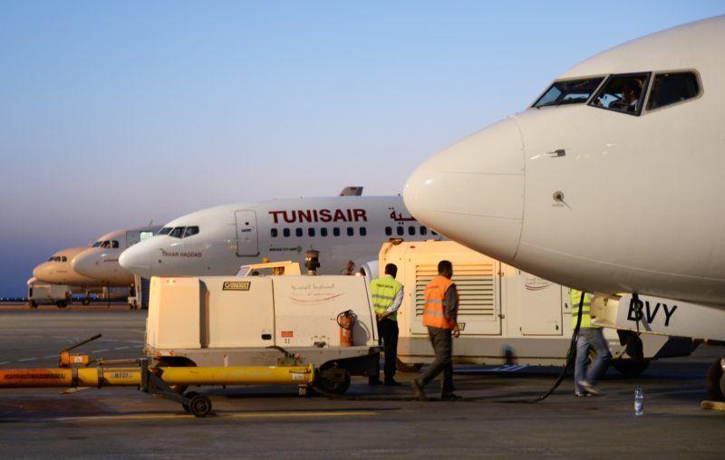 "2880467 06/15/2015 The Boeing 737 ""Tahar Haddad"" of Tunisair Airlines at Djerba Zarzis International Airport, Tunisia. Natalia Seliverstova/Sputnik"