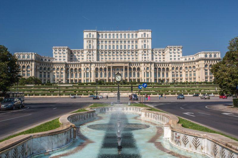 Romania, Bucharest City, Parliament Bldg.