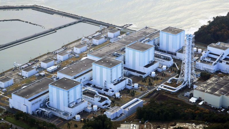 An aerial photo taken on Nov. 22, 2016 shows the Fukushima No.2 Nuclear Power Plant in Fukushima Prefecture. The Tokyo Electric Power Company Holdings, Inc.'s  President Tomoaki Kobayakawa met Fukushima Prefectural Governor Masao Uchibori and said that TEPCO will consider about the decommissioning of the Fukushima No.2 Nuclear Power Plant. The nuclear core didn't melt down during the Great East Japan Earthquake however the Plant has been stopping since the disaster.( The Yomiuri Shimbun )
