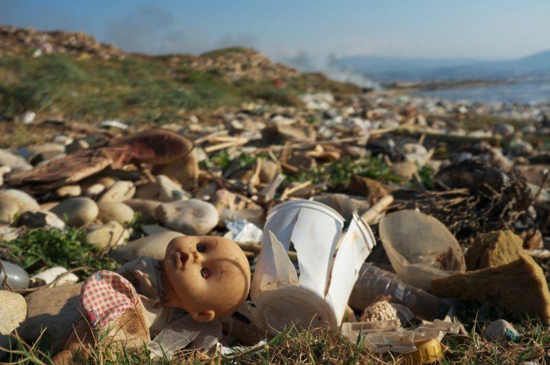 Range covered waste Mediterranean Lebanon .  Biosphoto / Antoine Boureau