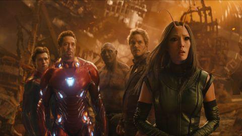 Avengers Infinity war2018Real  Anthony Russo et Joe RussoChris PrattDave BautistaTom HollandRobert Downey JrPom Klementieff.Collection Christophel © Marvel studios