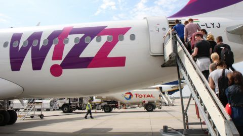 Netherlands: Wizz Air operated Airbus A320-232 at Eindhoven Airport. Photo from 12. August 2015.