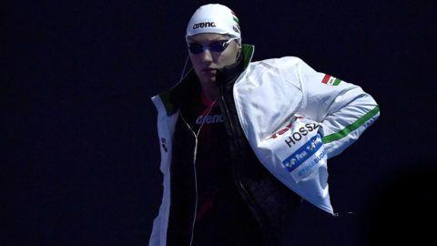 Budapest, 2017. július 29.A későbbi második helyezett Hosszú Katinka a női 200 méteres hátúszás döntője előtt a 17. vizes világbajnokságon a Duna Arénában 2017. július 29-én.MTI Fotó: Illyés Tibor