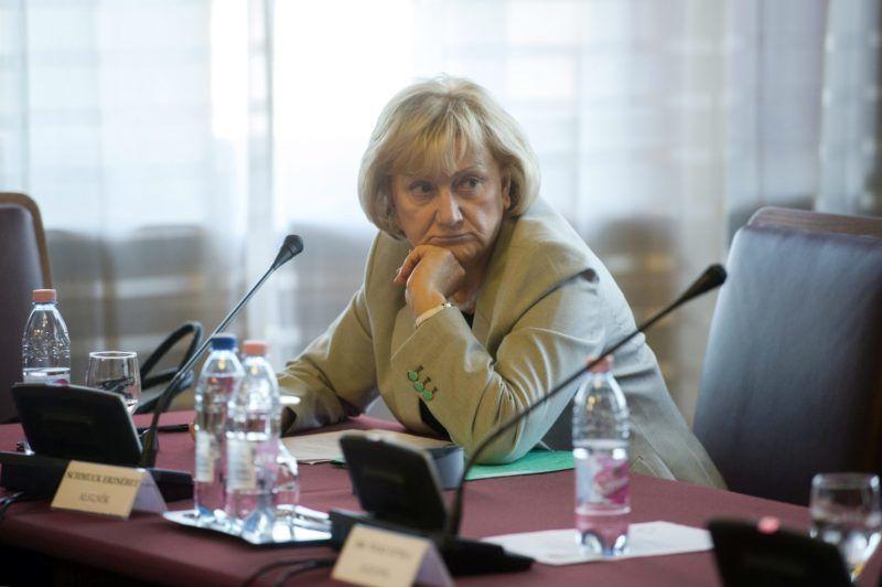 Budapest, 2015. március 23. Schmuck Erzsébet, a bizottság LMP-s alelnöke az Országgyûlés költségvetési bizottsága ülésén a Parlamentben 2015. március 23-án. MTI Fotó: Koszticsák Szilárd