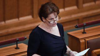 Budapest, 2018. július 16. Varga-Damm Andrea, a Jobbik parlamenti képviselõje felszólal a 2019. évi büdzséhez beérkezett módosító javaslatokról tartott vitán az Országgyûlés plenáris ülésén 2018. július 16-án. MTI Fotó: Koszticsák Szilárd