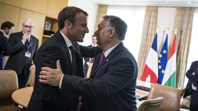Szófia, 2018. május 17. A Miniszterelnöki Sajtóiroda által közreadott képen Orbán Viktor miniszterelnök (j) és Emmanuel Macron francia elnök találkozója az EU és a nyugat-balkáni országok csúcstalálkozója elõtt Szófiában 2018. május 17-én. MTI Fotó: Miniszterelnöki Sajtóiroda / Szecsõdi Balázs