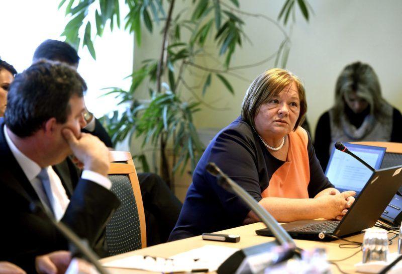 Budapest, 2017. április 25. Csépe Valéria miniszteri biztos az Országgyûlés kulturális bizottságának ülésén az Országgyûlés Irodaházában 2017. április 25-én. MTI Fotó: Bruzák Noémi