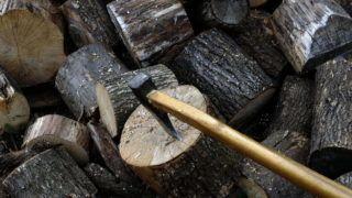 Galgaguta, 2006. október 4. Importból érkezett tûzifa a galgagutai fatelepen. Nógrád megyében megnõtt a kereslet a téli tûzifa iránt. A telep saját erdejébõl csak meghatározott mennyiségû fát tud kitermelni, amivel a környék igényeit nem tudják kielégíteni, ezért Szlovákiából importálnak bükk, gyertyán, cser, akác tûzifát, hogy biztosíthassák a folyamatos ellátást. MTI Fotó: H. Szabó Sándor