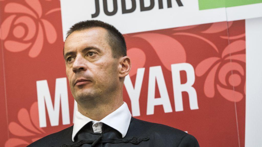 Budapest, 2018. május 12. Sneider Tamás, a Jobbik új elnöke a párt tisztújító kongresszusa után tartott sajtótájékoztatón a Dürer Rendezvényházban 2018. május 12-én. MTI Fotó: Mónus Márton