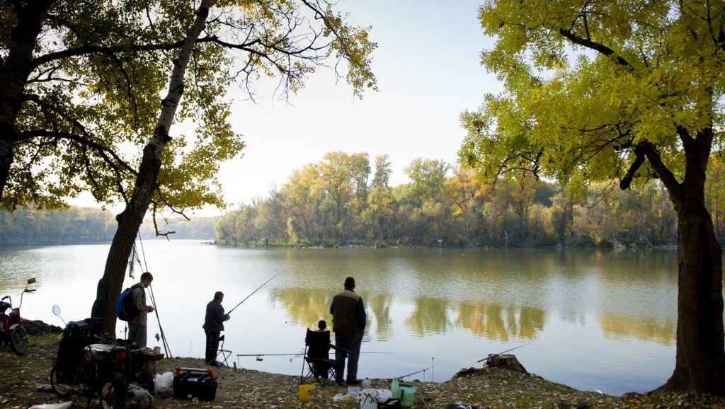 Mártély, 2011. október 29. Horgászok az ország egyik legszebb természetvédelmi területén, a mártélyi Holt-Tisza partján. A Csongrád megyei kis település, Mártély melletti üdülõövezet ilyenkor is kedvelt célpontja kirándulóknak és horgászoknak egyaránt. MTI Fotó: Rosta Tibor