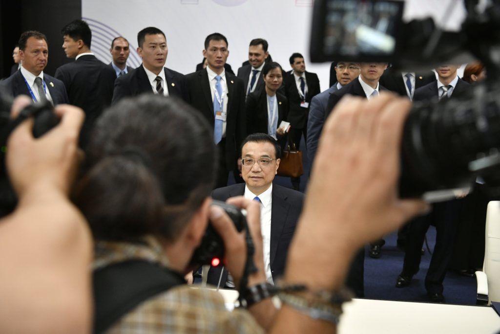 Szófia, 2018. július 7. Li Ko-csiang kínai miniszterelnök Kína, valamint 16 kelet- és közép-európai ország évenkénti csúcstalálkozóján Szófiában 2018. július 7-én. MTI Fotó: Szigetváry Zsolt