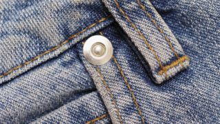 Close-up of a loop on denim jeans