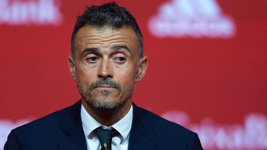 LAS ROZAS, SPAIN - JULY 19:  Luis Enrique Martinez looks on after being announced as new manager of Spain National Football Team on July 19, 2018 in Las Rozas, Madrid, Spain.  (Photo by Quality Sport Images/Getty Images)