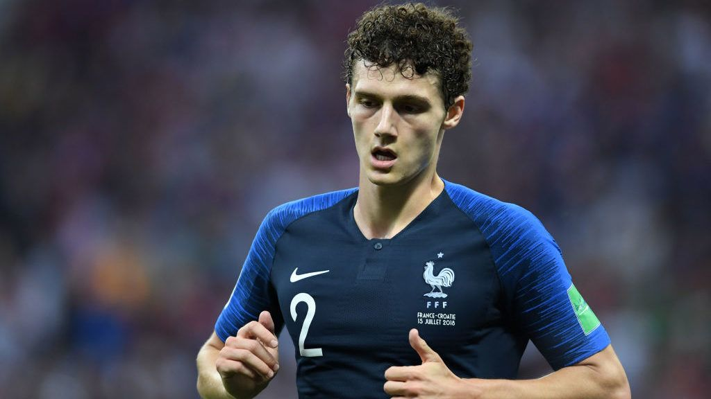 Benjamin Pavard of France in action during the 2018 FIFA World Cup Russia Final between France and Croatia at Luzhniki Stadium on July 15, 2018 in Moscow, Russia.