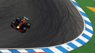 HOCKENHEIM, GERMANY - JULY 20:  Max Verstappen of the Netherlands driving the (33) Aston Martin Red Bull Racing RB14 TAG Heuer on track during practice for the Formula One Grand Prix of Germany at Hockenheimring on July 20, 2018 in Hockenheim, Germany.  (Photo by Mark Thompson/Getty Images)
