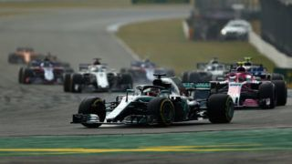 HOCKENHEIM, GERMANY - JULY 22: Lewis Hamilton of Great Britain driving the (44) Mercedes AMG Petronas F1 Team Mercedes WO9 on track during the Formula One Grand Prix of Germany at Hockenheimring on July 22, 2018 in Hockenheim, Germany.  (Photo by Mark Thompson/Getty Images)