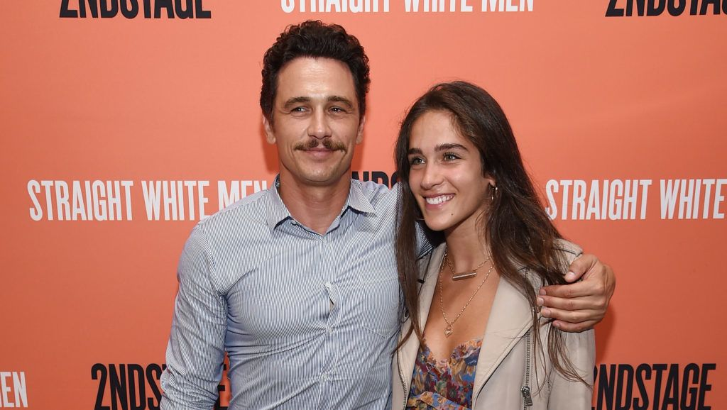 """NEW YORK, NY - JULY 23:  James Franco and  Isabel Pakzad attend the opening night of """"Straight White Men"""" at Hayes Theater on July 23, 2018 in New York City.  (Photo by Dimitrios Kambouris/Getty Images)"""