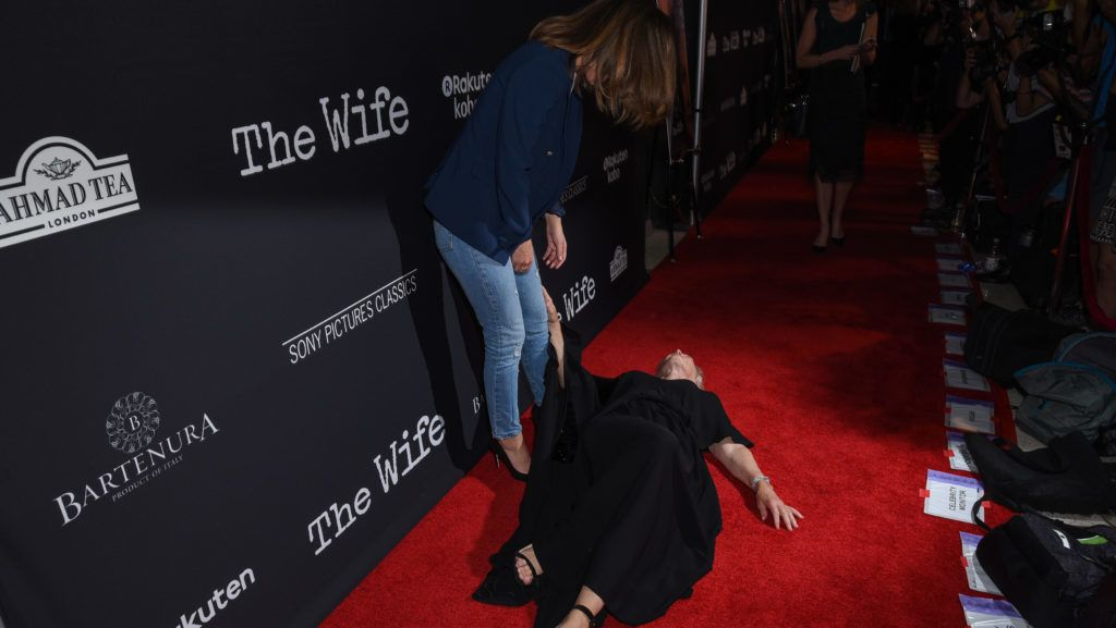 """WEST HOLLYWOOD, CA - JULY 23:  Glenn Close and Rose Byrne attend Sony Pictures Classics' Los Angeles Premiere of """"The Wife"""" at Pacific Design Center on July 23, 2018 in West Hollywood, California.  (Photo by Presley Ann/Getty Images)"""