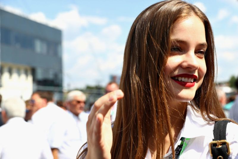 BUDAPEST, HUNGARY - JULY 29: Hungarian supermodel Barbara Palvin smiles on the grid before the Formula One Grand Prix of Hungary at Hungaroring on July 29, 2018 in Budapest, Hungary.  (Photo by Mark Thompson/Getty Images)