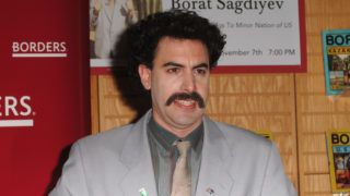 """Sacha Baron Cohen aka """"Borat"""" attends his book signing at Borders on November 7, 2007 in Westwood, California. (Photo by Steve Granitz/WireImage)"""