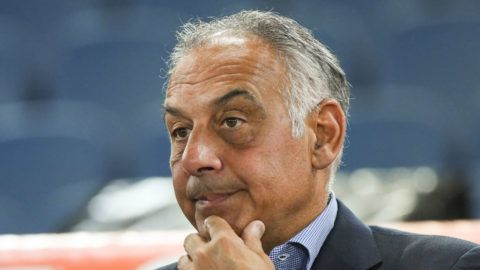 James Pallotta during the Italian Serie A football match between A.S. Roma and F.C. Hellas Verona at the Olympic Stadium in Rome, on september 16, 2017. (Photo by Silvia Lore/NurPhoto via Getty Images)