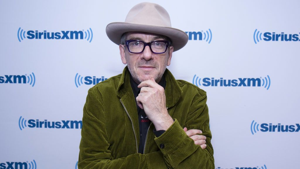 NEW YORK, NY - NOVEMBER 09:  Elvis Costello visits SiriusXM Studios on November 9, 2017 in New York City.  (Photo by Santiago Felipe/Getty Images)