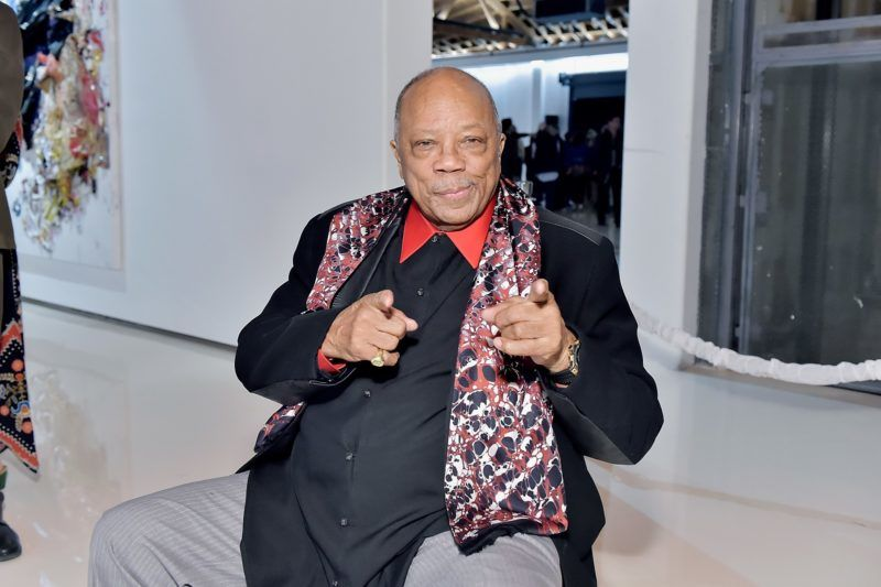VERNON, CA - FEBRUARY 16:  Quincy Jones attends Mr Chow 50 Years on February 16, 2018 in Vernon, California.  (Photo by Stefanie Keenan/Getty Images for Mr Chow Enterprises )