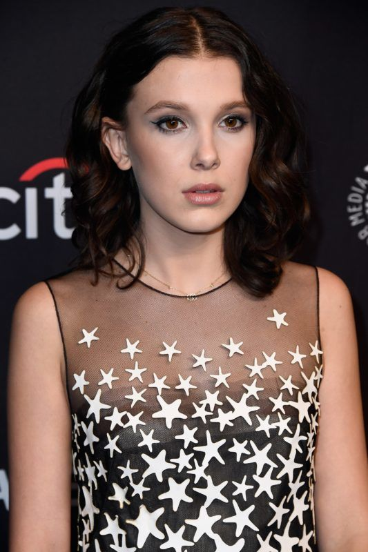 """HOLLYWOOD, CA - MARCH 25:  Millie Bobby Brown attends The Paley Center for Media's 35th Annual PaleyFest Los Angeles - """"Stranger Things"""" at Dolby Theatre on March 25, 2018 in Hollywood, California.  (Photo by Frazer Harrison/Getty Images)"""