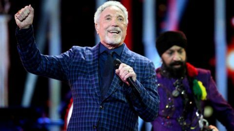 LONDON, ENGLAND - APRIL 21: Tom Jones performs at a star-studded concert to celebrate the Queen's 92nd birthday at the Royal Albert Hall on April 21, 2018 in London, England.  The Queen and members of the royal family are guests of honour at the celebration, which is being billed as The Queen's Birthday Party. (Photo by Andrew Parsons - WPA Pool/Getty Images)