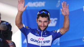 SACRAMENTO, CA - MAY 19: Fernando Gaviria of Colombia and Team Quick-Step Floors celebrates on the podium after stage seven of the 13th Amgen Tour of California, a 143km stage in Sacramento on May 19, 2018 in Sacramento, California. (Photo by Matteo Marchi/Getty Images)