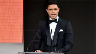 NEW YORK, NY - JUNE 04:  Trevor Noah speaks onstage during the 2018 CFDA Fashion Awards at Brooklyn Museum on June 4, 2018 in New York City.  (Photo by Theo Wargo/Getty Images)