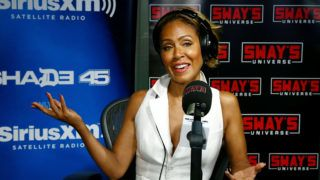 NEW YORK, NY - JUNE 13:  (EXCLUSIVE COVERAGE) Actress Jada Pinkett Smith visits 'Sway in the Morning' hosted by SiriusXM's Sway Calloway on Eminem's Shade 45 channel at the SiriusXM Studios on June 13, 2018 in New York City.  (Photo by Astrid Stawiarz/Getty Images)