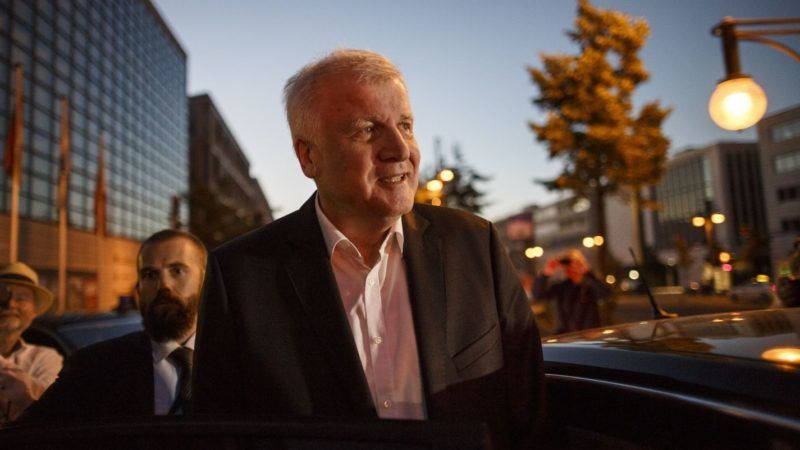 BERLIN, GERMANY - JULY 02:  Horst Seehofer, German Interior Minister and leader of the Bavarian Social Union (CSU) leaves the CDU-headquarter after meeting with German Chancellor and leader of the German Chistian Democrats (CDU) Angela Merkel at CDU party headquarters on July 2, 2018 in Berlin, Germany. Seehofer had announced he will resign yesterday from both posts over what he sees as insufficient policy by Merkel over asylum and migraiton policy. He then announced he will postpone his resignation in order to meet with Merkel later today.  (Photo by Carsten Koall/Getty Images)