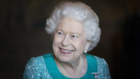 EDINBURGH, SCOTLAND - JULY 03: Queen Elizabeth II attends a reception for 603 (City of Edinburgh) Squadron, Royal Auxiliary Air Force, who have been honoured with the Freedom of The City of Edinburgh, at the Palace of Holyroodhouse on July 3, 2018 in Edinburgh, United Kingdom. (Photo by Jane Barlow - Pool/Getty Images)