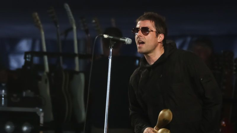 SOUTHWOLD, ENGLAND - JULY 14: Liam Gallagher performs a secret set on the BBC Music stage at Latitude in Henham Park Estate on July 14, 2018 in Southwold, England. (Photo by Carla Speight/WireImage)