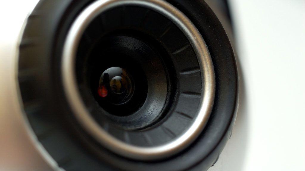 Lens of a webcam - macro shot.