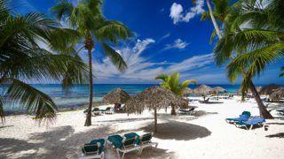 Beautiful Caribbean beach in Dominican Republic