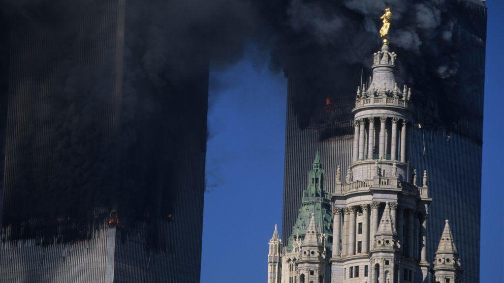 USA, New York, 9/11 terrorist attack.