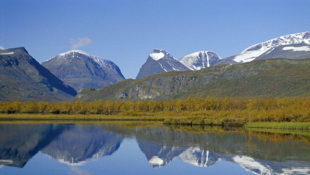Mt. Kebnekaise, Sweden's highest mountain, (2117m), Laponia World Heritage Site, Lappland, Sweden, Scandinavia, Europe